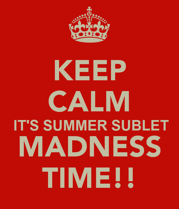 FALL SUBLET MADNESS 2015 KICKING OFF! REGISTER NOW! | AGRASOY REALTY